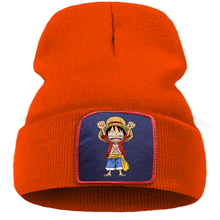 Knitted Hat Anime Beanies Men Bonnet Pirate One-Piece Japanese Luffy Winter Caps Street