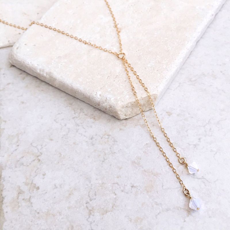 New Gold Silver Color Chain Long Crystal Choker Necklace For Women Summer Chocker Necklaces collar collier ras du cou femme