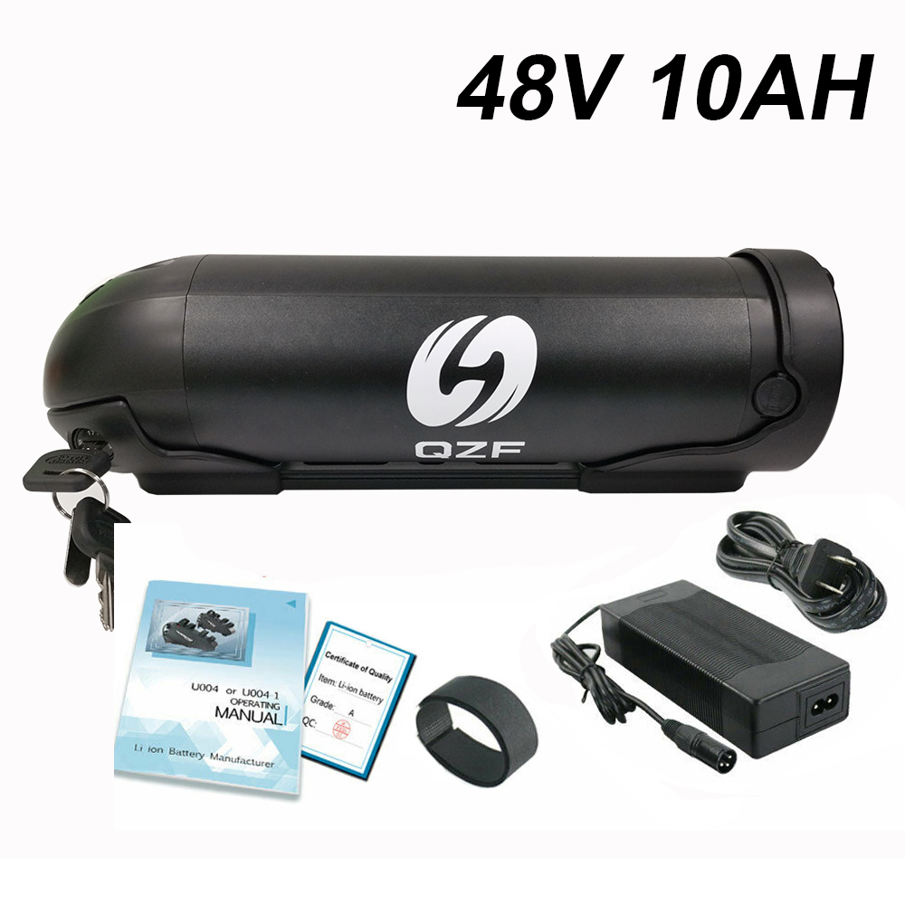 <font><b>48V</b></font> 10AH e bike <font><b>battery</b></font> water bottle Lithium electric <font><b>battery</b></font> <font><b>48V</b></font> <font><b>1000W</b></font> with charger and <font><b>battery</b></font> fix plate image