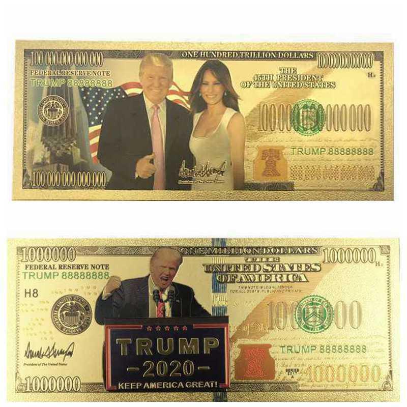 2 шт Дональд Трамп первая леди памятная монета президент банкнота без валюты