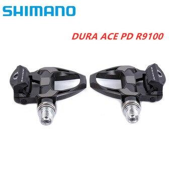 SHIMANO DURA-ACE R9100 PD-R9100 E1 SPD SL Pedal de bicicleta de carretera de carbono