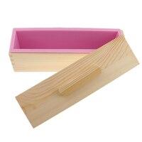 Flexible Rechteckige Seife Silikon Loaf Mold Holz Box für 900g/1200g Seife Machen Liefert