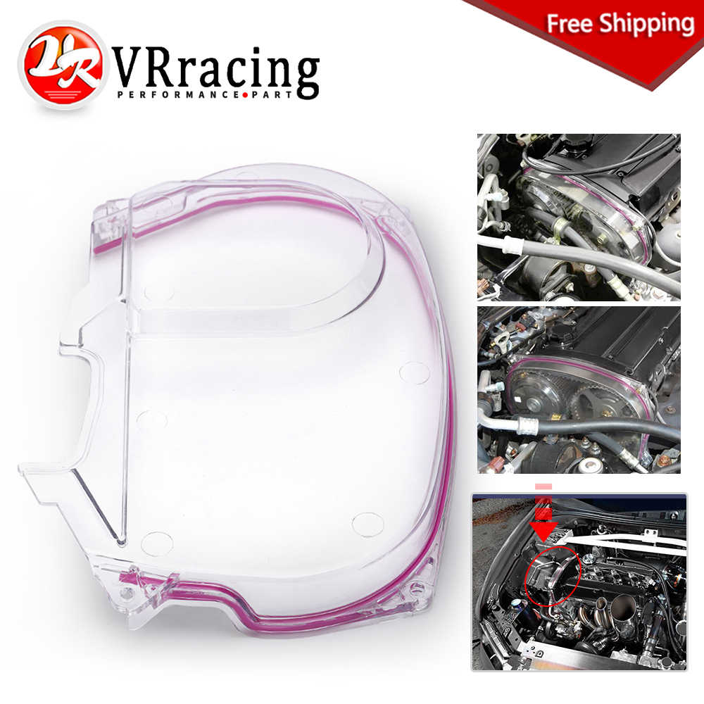 Clear Plastic Timing Belt Cover Pulley Cover Cam Gear Cover For Mitsubishi 4G63