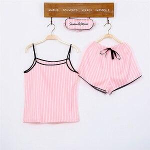 Image 3 - Bộ Đồ Ngủ Nữ Bộ Đồ Ngủ Lụa Nữ 7 Món Đồ Ngủ Mùa Đông Gợi Cảm Pijamas Nữ Mềm Ngọt Dễ Thương VÁY NGỦ Pyjama Set
