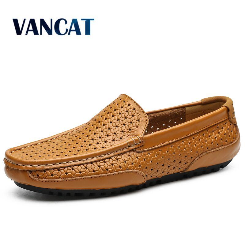 Уличные летние мужские лоферы ручной работы, повседневная обувь, мужские мокасины с перфоратором, обувь из спилка на плоской подошве, обувь для вождения, размер 38 47|Повседневная обувь|   | АлиЭкспресс