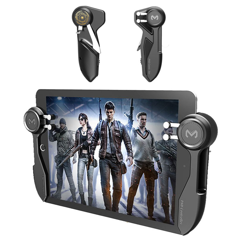 PUBG Mobile Gmaepad Controller For iPad Tablet Six Finger Games Trigger Joysticks L1 R1 Fire Button Aim Key for iphone Android