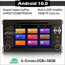 Radio Multimedia con GPS para coche, Radio con reproductor DVD, DSP, Carplay, navegador, 2 DIN, Android 3014, para Porsche Cayenne 2009 2016, DAB + OBD