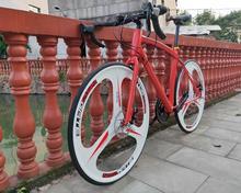 24 prędkości 700C rower szosowy jazda na rowerze bicicleta rower szosowy mężczyzna i kobieta rower hamulce tarczowe tanie tanio kalosse Unisex Aluminium Ze stopu aluminium ze stopu aluminium 150-200 cm 14 kg Podwójne hamulce tarczowe 18 kg 0 1 m3