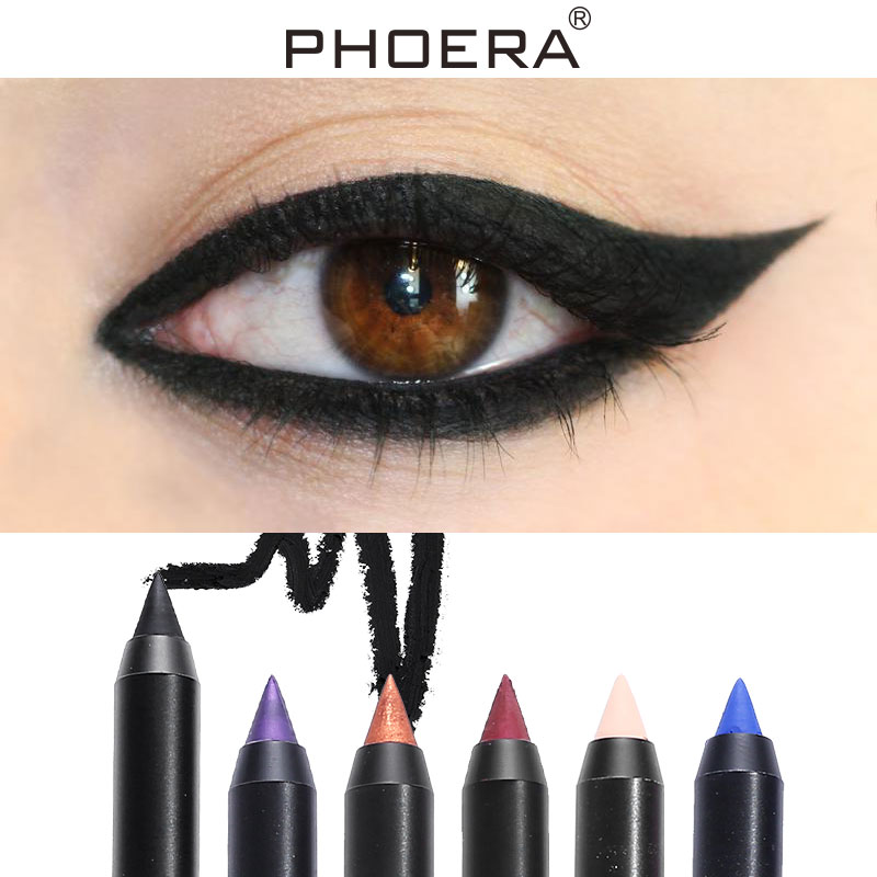 New Professional Color Eyeliner Pearlescent Matte Waterproof Fast Dry Pigment Black Eye Liner Pencil Eye Make Up Comestics TSLM2