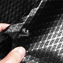 46*42cm/piece Black Special granular rock texture three dimensional fabric creative bag pvc leather designer pu