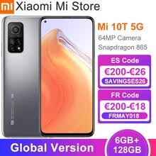 Versión Global Xiaomi Mi 10T 6GB de RAM 128GB ROM Smartphone Snapdragon 865 Octa Core 144Hz 64MP cámara trasera 6,67