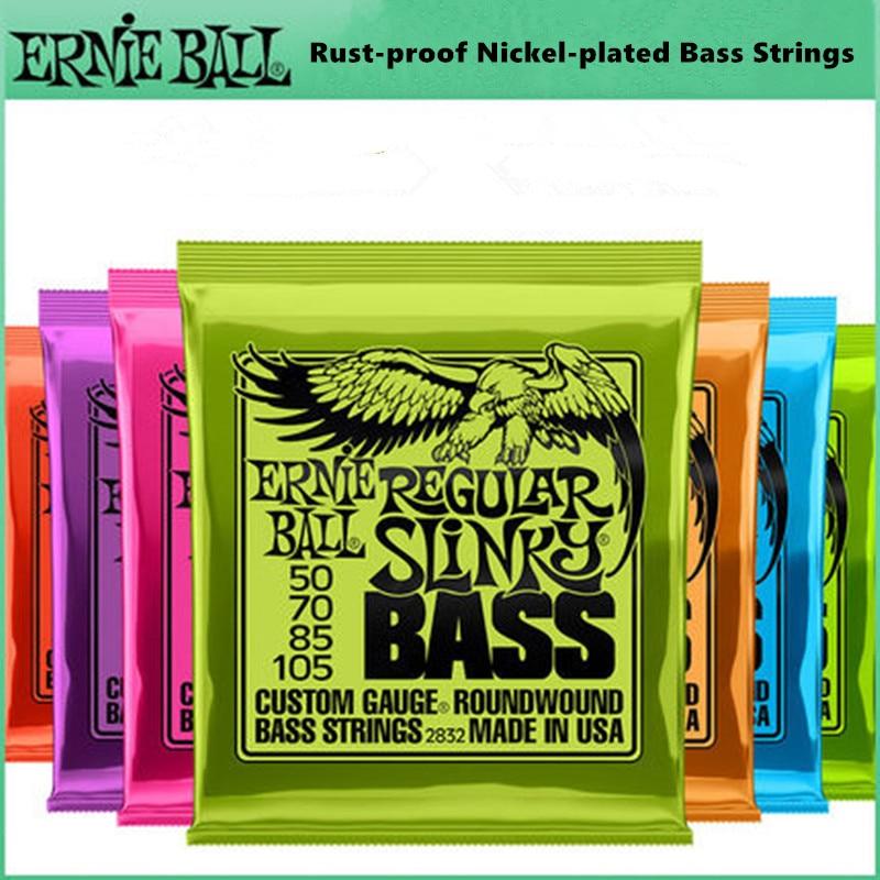 Ernie Ball басовые струны гибридные спутанные никелированные нержавеющие 5 4 басовые струны Музыкальные инструменты