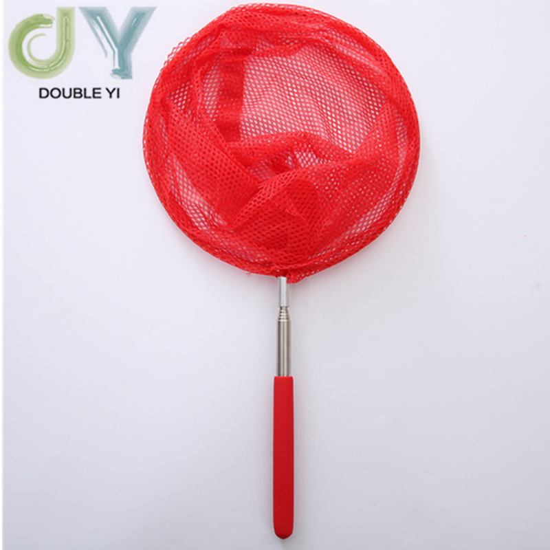 Free Shipping Red Stainless Steel Telescopic Nets Insect Nets Butterfly Children Nets Bamboo Nets Fish Protection 2pcs/pack