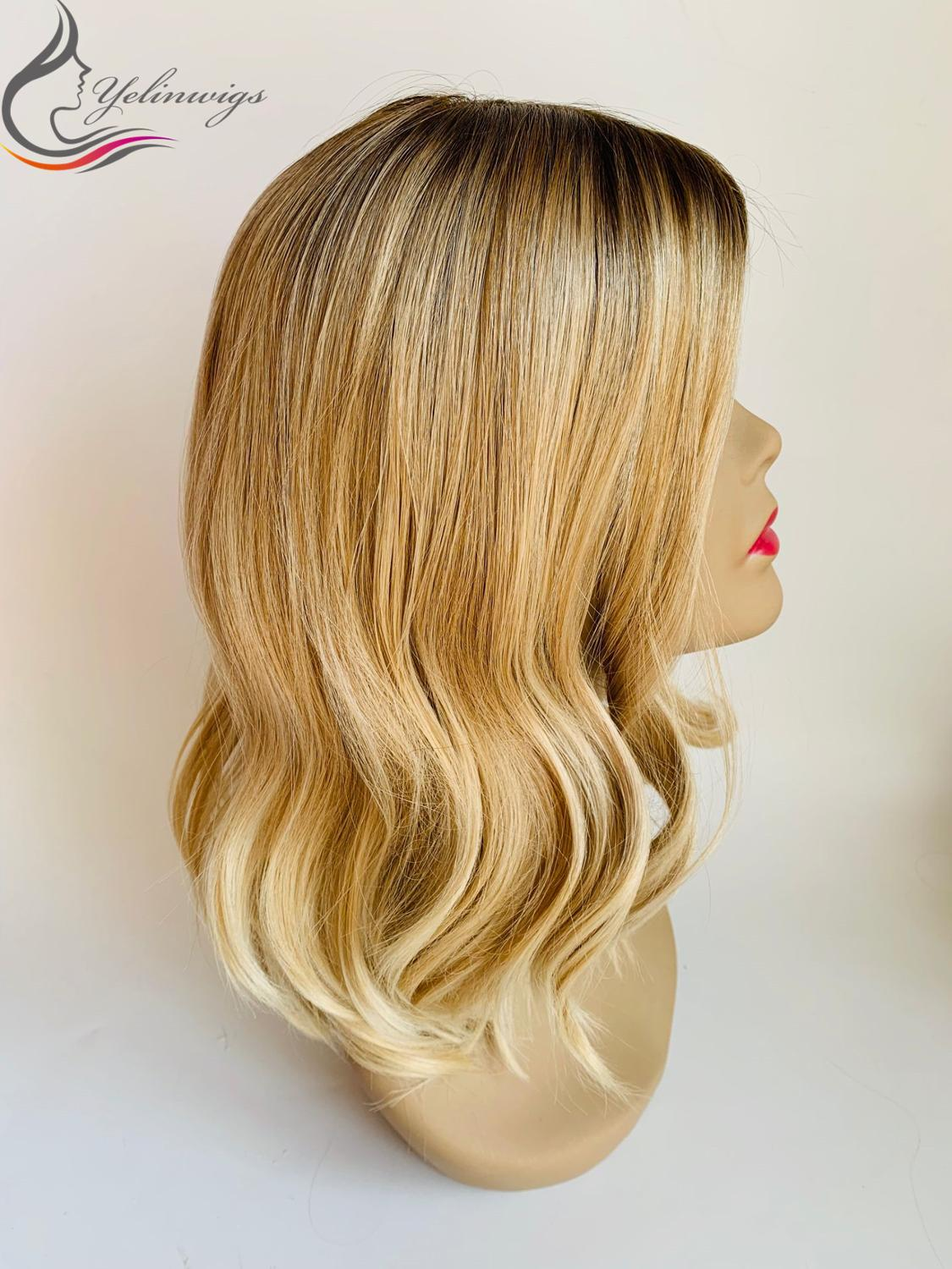 Hot Sale Unprocessed Silk Base European Hair Blonde Color Wigs Fashion Color Jewish Kosher Wigs Small Layer