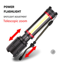new arrive yunmai led flashlight zoomable LED Flashlight Torch XHP70 + COB USB Rechargeable Waterproof Lamp Ultra Bright