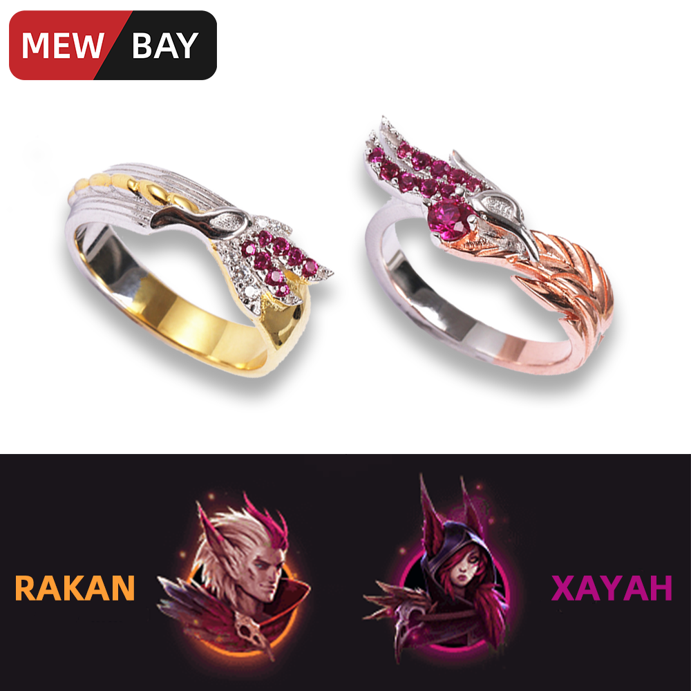 Official LOL League of Legends Rakan and Xayah Bracelets Gifts For Couple Lover