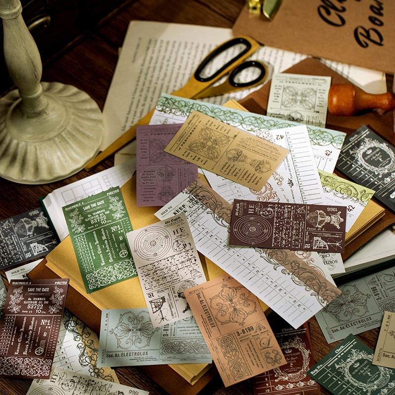 Mohamm 50 pièces rétro Bill Club série pense-bête Portable mémo décoration Scrapbooking papier créatif papeterie fournitures scolaires