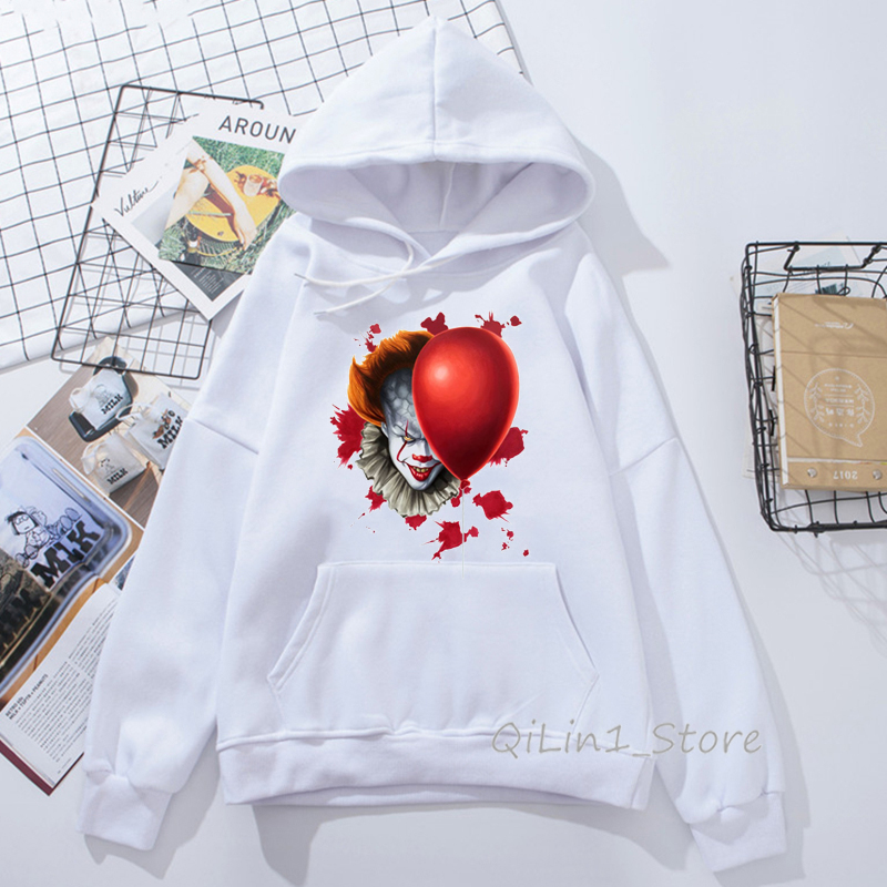 Spring Autumn Winter Horror Film Best Stephen King's It Cap Hoodies Women's Sweatshirt Pennywise Custom Hoodie Unisex Outerwear