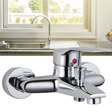 Triple Bathtub Hot and Cold Mixing Water Faucet Sink Spray Shower Head Deck Mounted Basin Mixer Taps Home Improvement Drop Ship