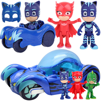 PJ Masks Sets Pajamas Masked Hero Toy Connor Flying Wall Man Owl Girl Luxury Car Kids Toys for Children Birthday Gifts P14