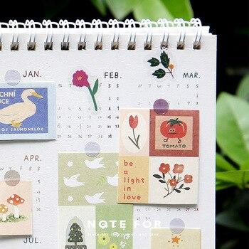 120 Pcs/set Vintage Memo Pad Retro Flower Painting Memo Sheets Diary Journal Decorative Paper Stiaionery Office School Supplies фото