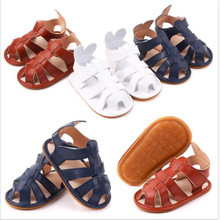 2020 New Toddler Baby Summer Shoes Rubber Sole Newborn PU Sa