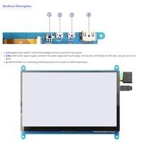 7 inch LCD monitor HDMI 800X480 HD touch screen capacitive screen for Raspberry Pi 4 Model B 3B+/3B/2B/B+