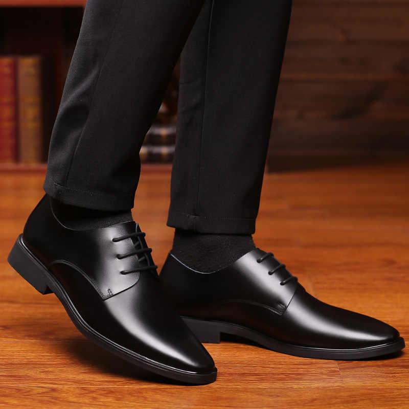 Mazefeng Designer อย่างเป็นทางการ Oxford รองเท้าผู้ชายรองเท้าหนังอิตาลี Pointed Toe รองเท้าบุรุษ Sapato Oxford Masculino