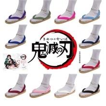 Kamado Tanjiro Nezuko Cosplay Shoes Demon Slayer Kimetsu no Yaiba Cosplay Geta Agatsuma Zenitsu Tomioka Giyuu Shoes Japan Clogs
