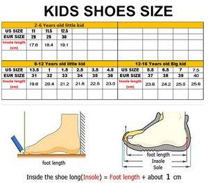 Image 5 - 2019 moda nefes spor ayakkabılar erkek okul ayakkabısı bahar büyük çocuk ayakkabı çocuk koşu ayakkabıları erkekler için boyutu 29 39 B55
