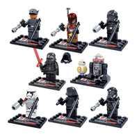 8 Uds Legoings Star Wars El despertar de la fuerza Mini bloques de construcción figuras en miniatura de juguete para niños superhéroes de bloques Juguetes