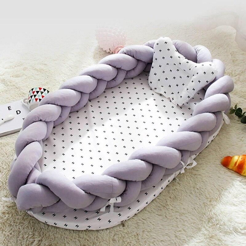 90*55cm bébé nid lit Portable berceau lit de voyage infantile coton berceau pour nouveau-né couffin avec pare-chocs nouveau-né matelas