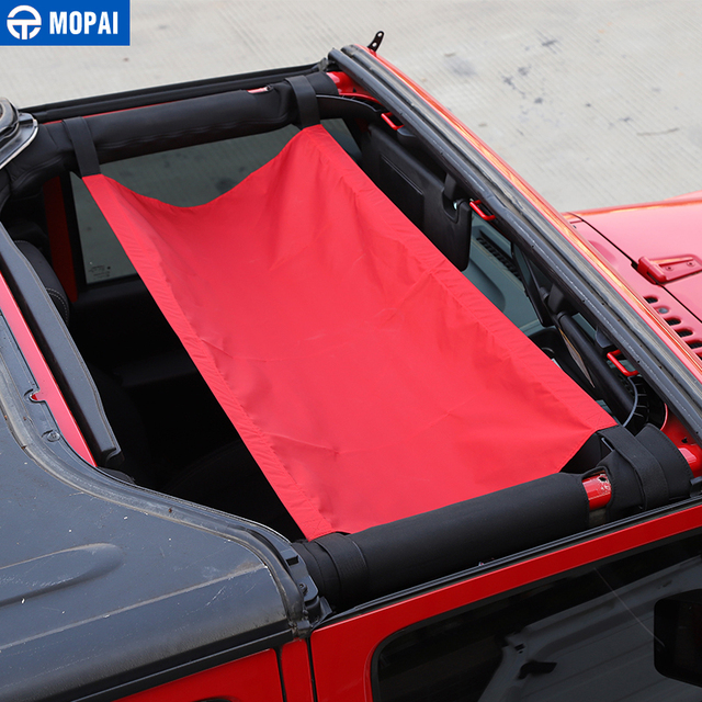 MOPAI Car Roof Cover  for Jeep Wrangler JK 2007+ Car Top Cover Accessories for Jeep Wrangler TJ JK 1987-2018 3