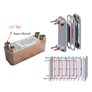 Image 3 - 30 Plates Wort Heat Exchanger Stainless Steel Wort Chiller,Brewing Cooling Counterflow Clooler For Homebrew Beer Tools 1/2NPT