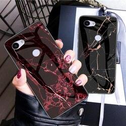 На Алиэкспресс купить стекло для смартфона for google pixel 3a 3axl case marble tempered glass soft bumper phone case for google pixel 3a xl back cover coque