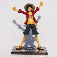 цена на 15cm Anime One Piece Luffy Figure For The New World Monkey D Luffy PVC Action Figures Toy Collectable Model Doll