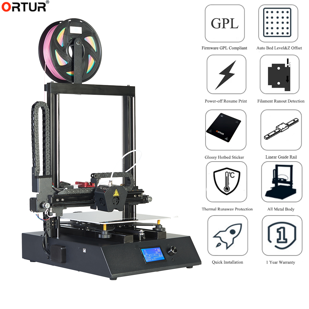 High Speed Ortur 4 v2 Linear Rail 3D Printer Kit Solid Heavy Duty FDM Imprimante 3d Normal Printing Speed 120-150mm/s in China image