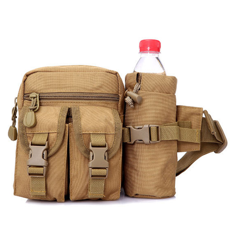 Waterproof Nylon Men Fanny Pack Tactical Military Army Waist Bag Hiking Outdoor Camping Shoulder Bum Belt Bum Sport Chest Bags