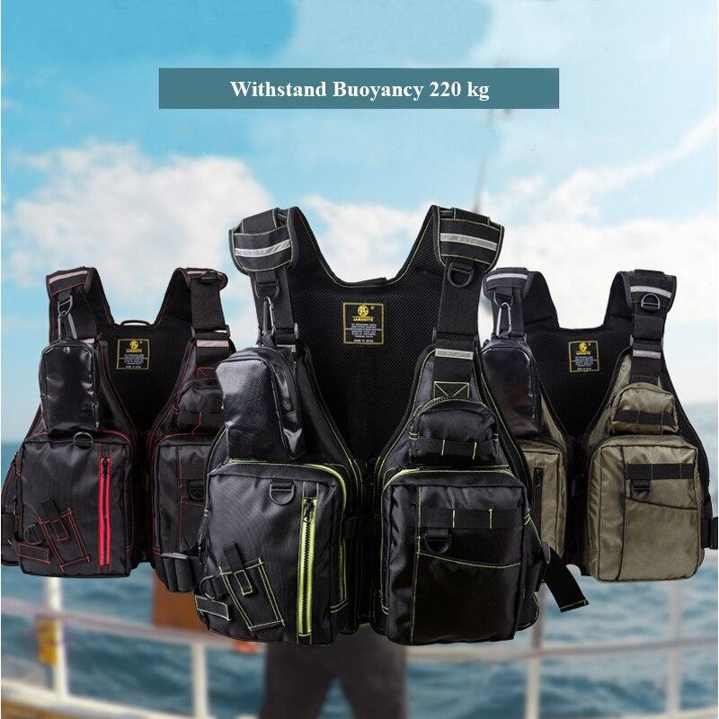 Nouveau gilet de sauvetage de pêche Dayiwa extérieur 220kg gilet de pêche de flottabilité gilet multi-poches pour la natation veste de navigation flottante
