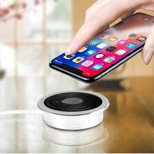 Máy Tính Để Bàn 15W Tề Của Điện Thoại Nhúng Sạc Không Dây Sạc Nhanh 3.0 USB Loại C Hỗ Trợ Samsung Huawei