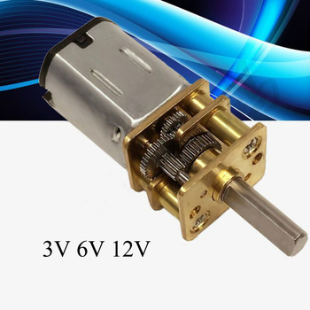 Wysokiej jakości DC 3 V/6 V/12 V N20 Mini mikro metalowy motoreduktor z kołem zębatym silniki prądu stałego 15/30/50/60/100/200/300/500/1000 obr/min