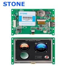 4.3 Polegada hmi tela lcd com driver + controlador + software de desenvolvimento + rs485 rs232 ttl uart interface STVC043WT-01