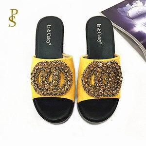 Image 4 - أحذية فلوك للنساء صندل بكعب اسفيني عالي الكعب النعال للسيدات أحذية بو الوحيد