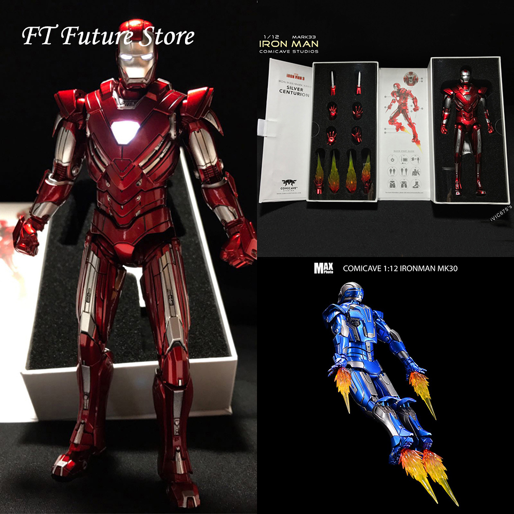 Comicave Studios 1//12 Diecast Iron Man MK30 Blue Figure Model Toy Collection