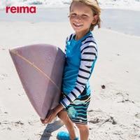 Reima Children's Swimwear Long sleeved T shirt Sunscreen Uv50 + Elastic Moisture Wicking Boys And Girls Beach Swimwear 2020