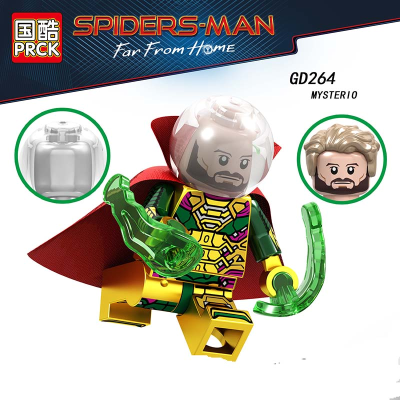 Single Sale Compatible LegoINGlys Enlighten Spider-Man 2 Far From Home Hydro-man Mysterio MiniFigure Building Blocks Toy GifT