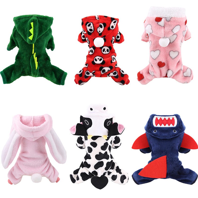 Soft Warm Pet Dog Jumpsuits Clothing for Dogs Pajamas Fleece Pet Dog Clothes for Dogs Coat Jacket Chihuahua Yorkshire Ropa Perro