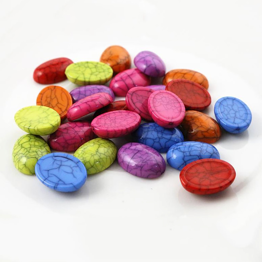 New Fashion 20pcs 13x18mm Mix Color Oval And Drop Flat Back Resin Cabochons Cameo