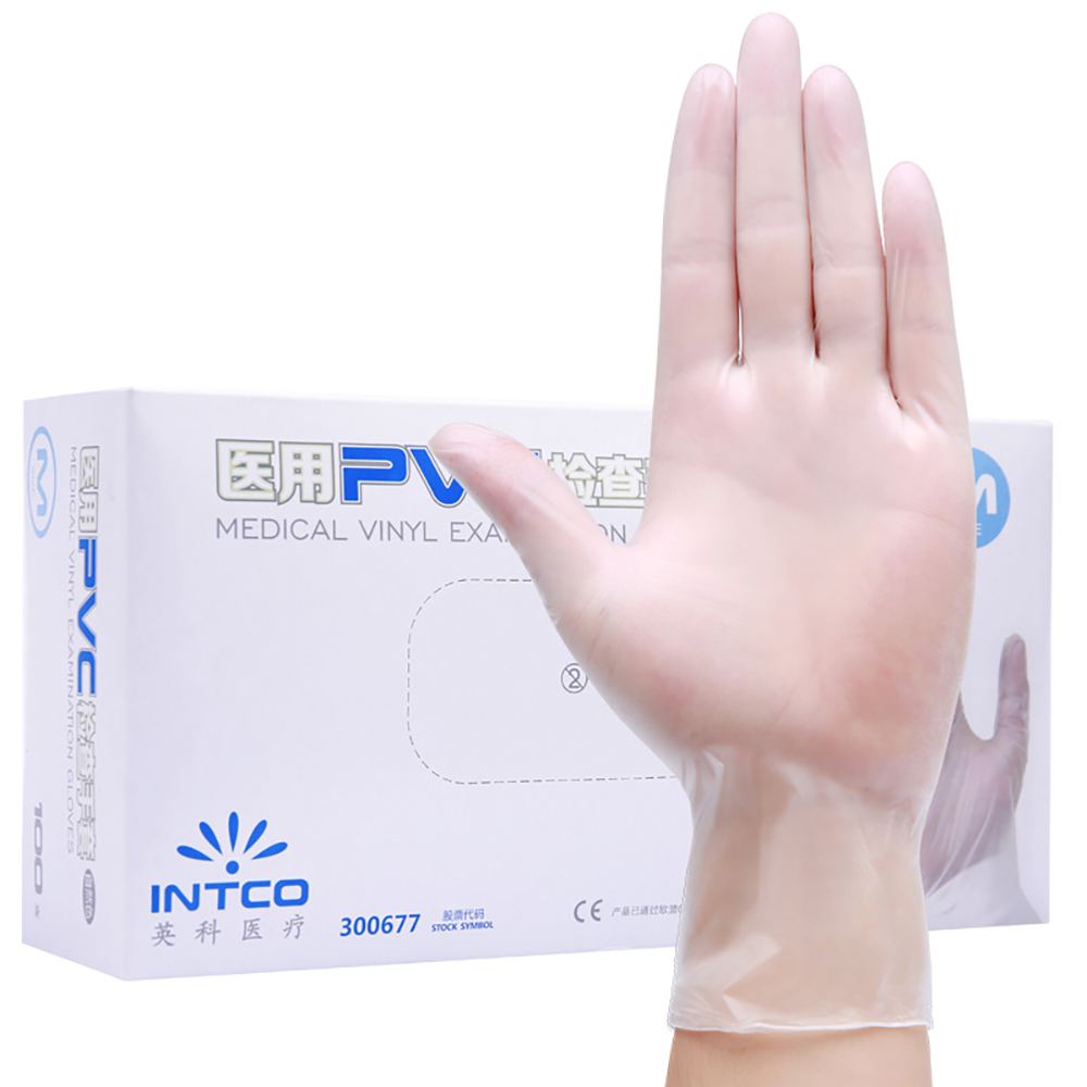Image 3 - Medical disposable examine gloves 100pcs/box Anti static PVC gant  latex jetable Gloves For Food Cleaning Gloves AccessoriesBraces