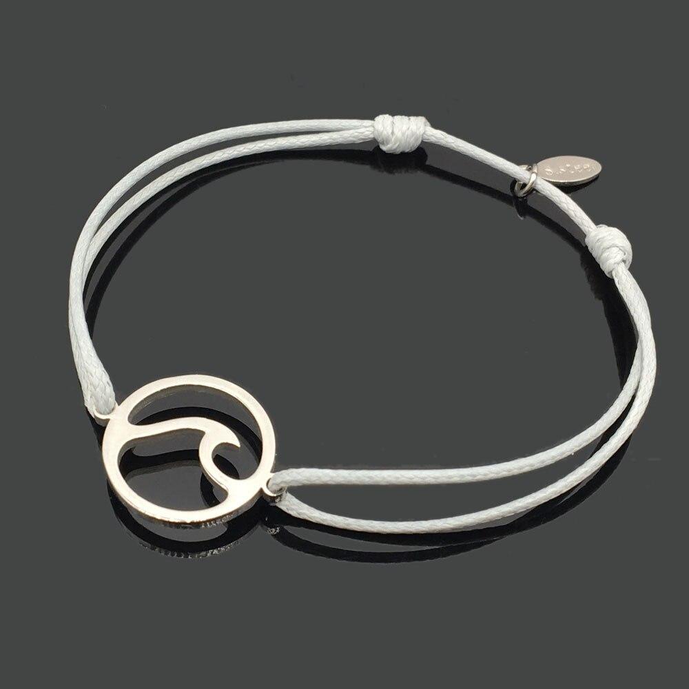 2 шт браслет желаний из нержавеющей стали, регулируемый шнур, хороший браслет, приносящий удачу, красный браслет дружбы - Окраска металла: stainless spray